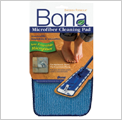 bona blue microfiber floor cleaning pad