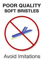 Imatation, poor quality, grout cleaning brush to avoid!