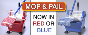 Mop Bucket/Pail Combo, in Red/Blue