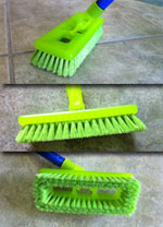 Tile/Grout Scrubbing Brush Green