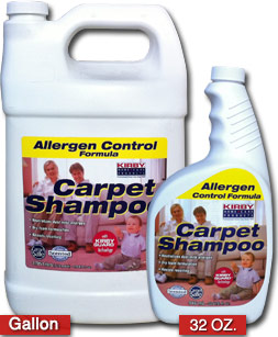 Kirby Allergen Control Formula Carpet Shampoo for carpet cleaning machines.