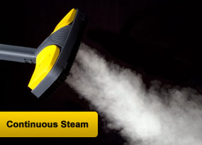 Get continuous steam cleaning power with the Vapamore MR-100.